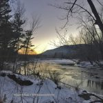 The Saco River in Winter