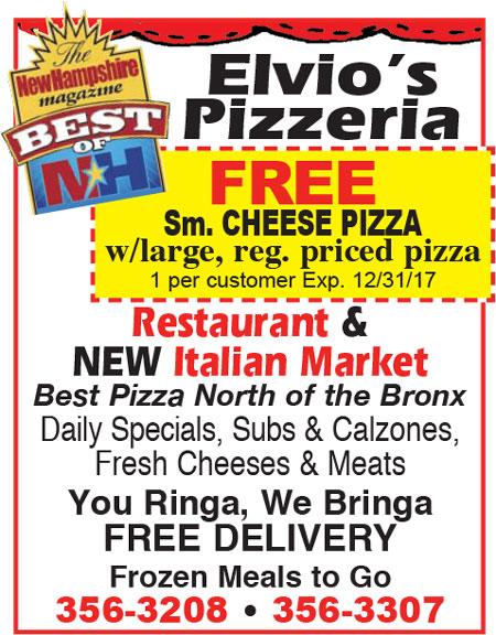 North Conway, NH Pizza - Elvio's Pizzeria & Italian Market