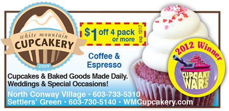 North Conway, NH Sweets - White Mountain Cupcakery