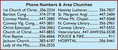North Conway Village Church Phone Numbers