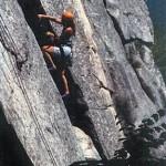 North Conway, NH Rock Climber